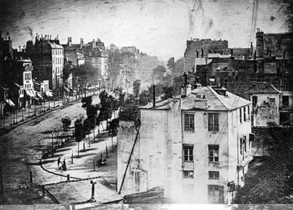 Boulevard du Temple. Foto: Daguerre, 1938.