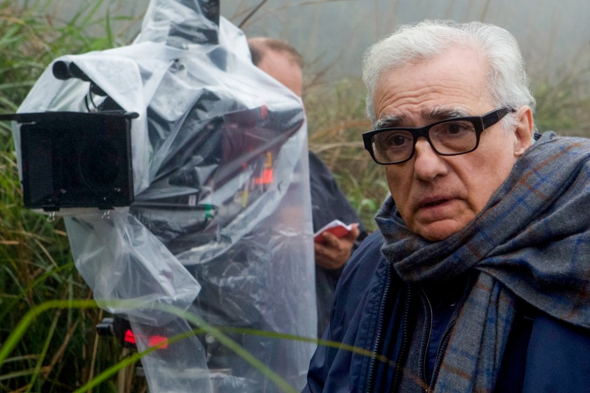 Director Martin Scorsese on the set of SILENCE.