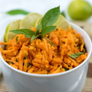 Carrot Salad with Thai Basil, Lime, and Roasted Sesame Oil
