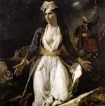 Eugène Delacroix - Greece on the Ruins of Missolonghi, 1826