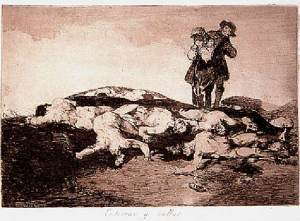 Francisco de Goya - Enterrar y Callar, 1910-14