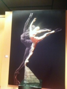 Richard MacDonald's sculptures at MEAM. The photo was taken by Alx Phillips.