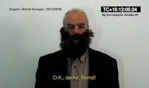 Some Engels, a video art piece by Sven Johne, Gallery Klemme's Berlin