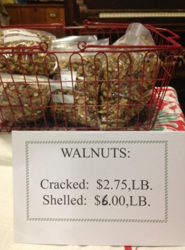 Walnuts: cracked or shelled.