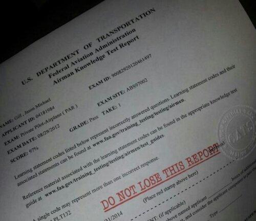 Private Pilot Aeronautical Written Exam - COMPLETED