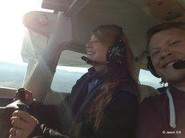 Elli Flying with Jason