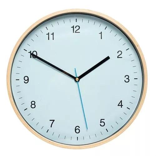 Zegar niebieski okrągły Hubsch