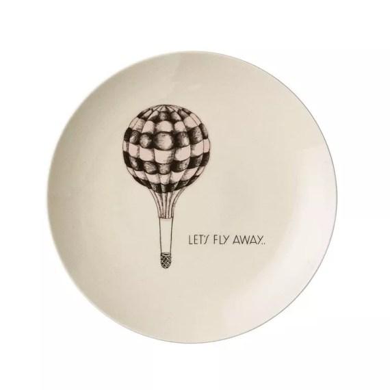 """talerz z balonem """"let's fly away"""""""