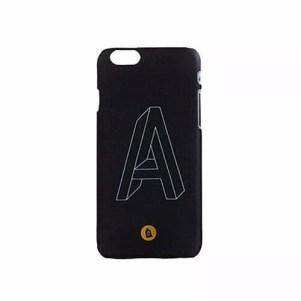 etui na telefon iPhone – niemożliwa bryła, typografia litera A