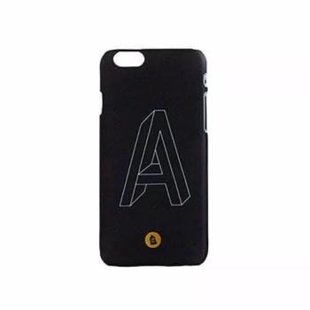 etui na telefon iPhone - niemożliwa bryła, typografia litera A