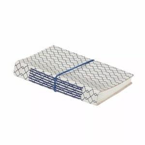 notatnik niebieski geometryczny