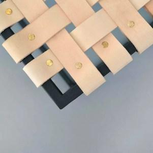 stolik lade detal – skóra naturalna