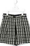 Shorts De Tweed Pied De Poule - Dolce & Gabbana Kids