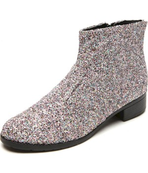 Bota Dafiti Shoes Cano Curto Glitter Rosa - Dafiti Shoes