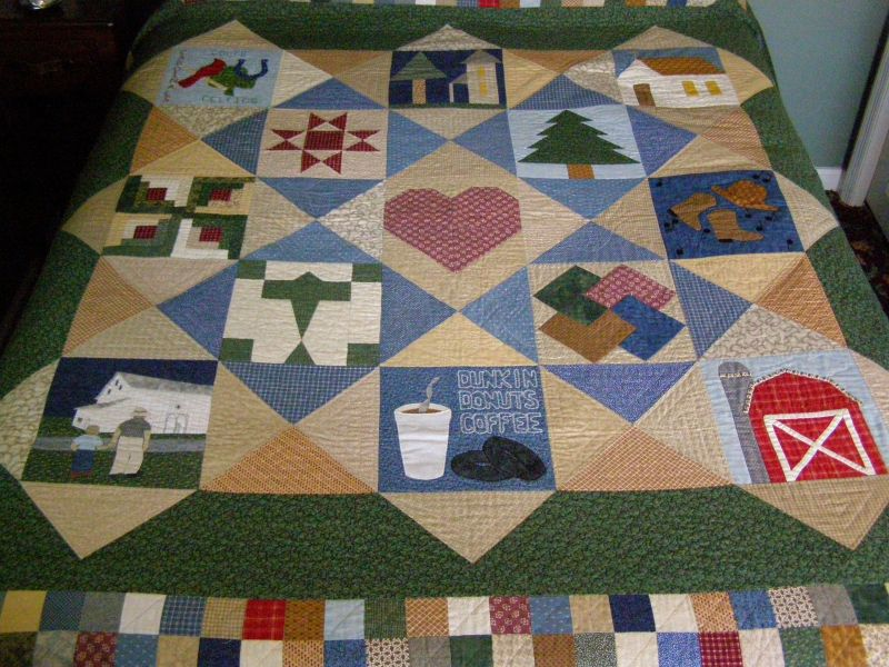 Blogger's Quilt Festival - Tribute to my Husband Entry #1
