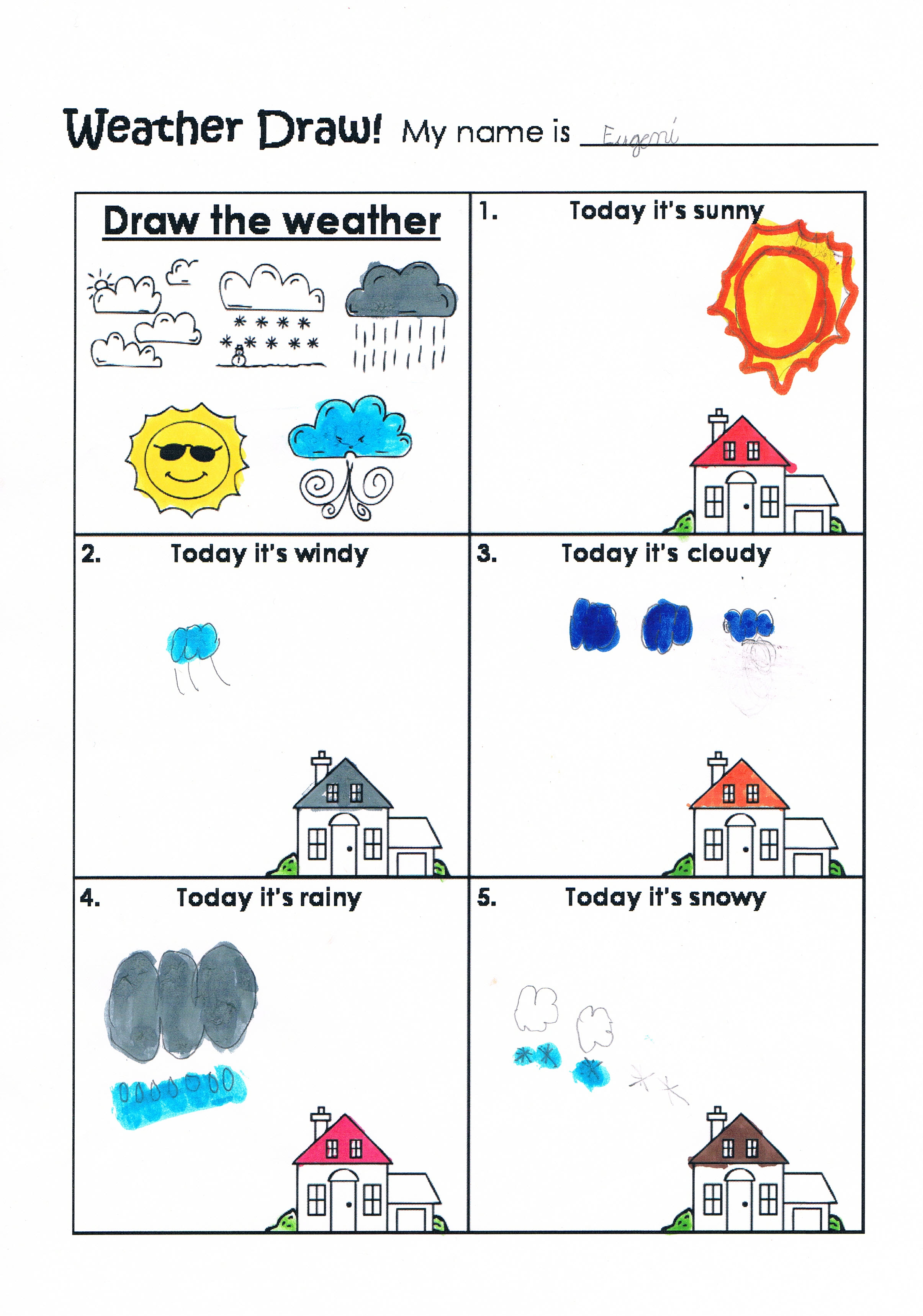 Worksheet Clothes Weather