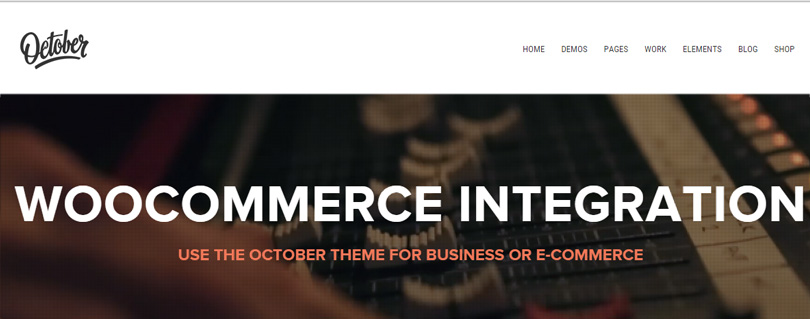 October WordPress Theme
