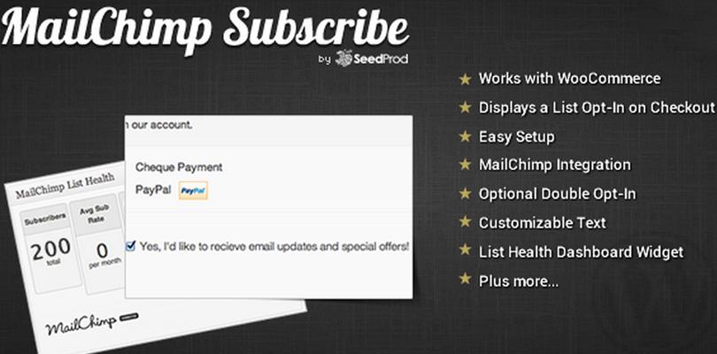 WooCommerce MailChimp Subscribe — WordPress Plugin