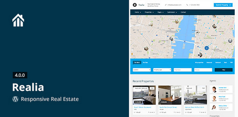 Realia —WordPress Real Estate Theme