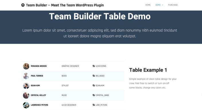 meet the team wordpress plugin for dreamweaver