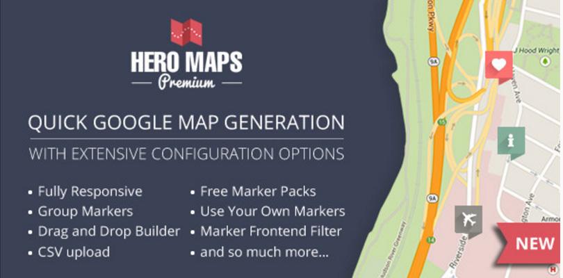 Hero Maps Premium — Responsive Google Maps Plugin