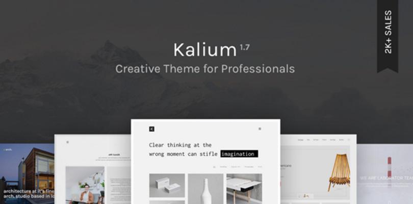 Kalium — Creative Theme for Professionals