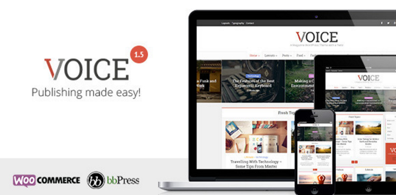 Voice — Clean News/Magazine WordPress Theme