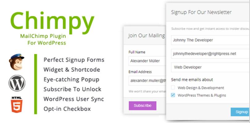 Chimpy MailChimp Plugin for WordPress