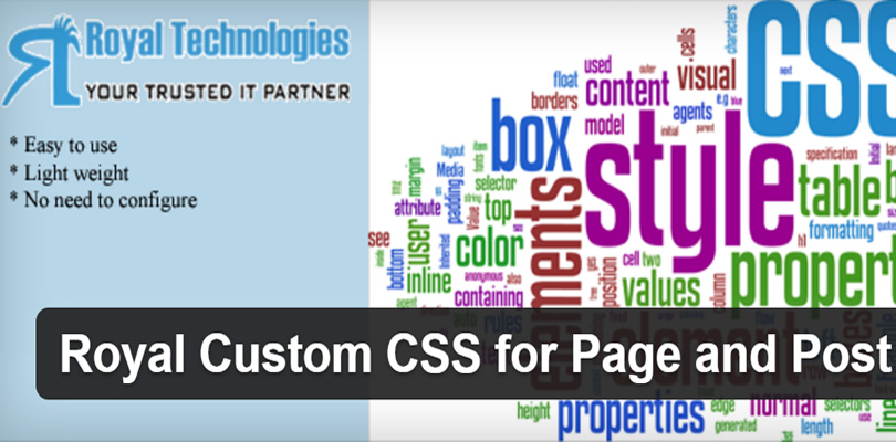 Royal Custom CSS for WordPress