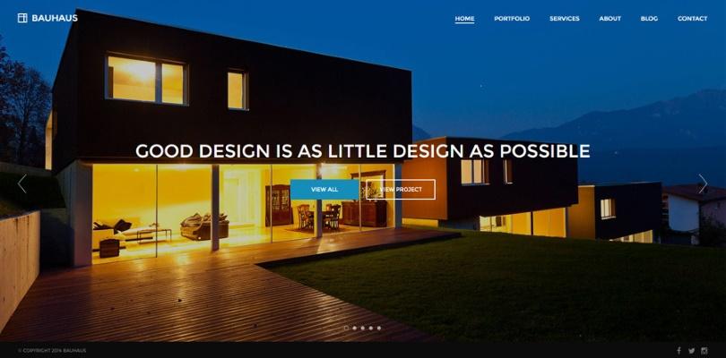 Bauhaus — Architecture and Portfolio WordPress Theme