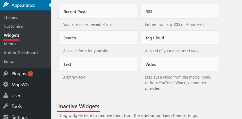 Widgets WordPress