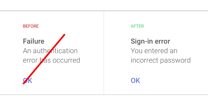 Google ux writing