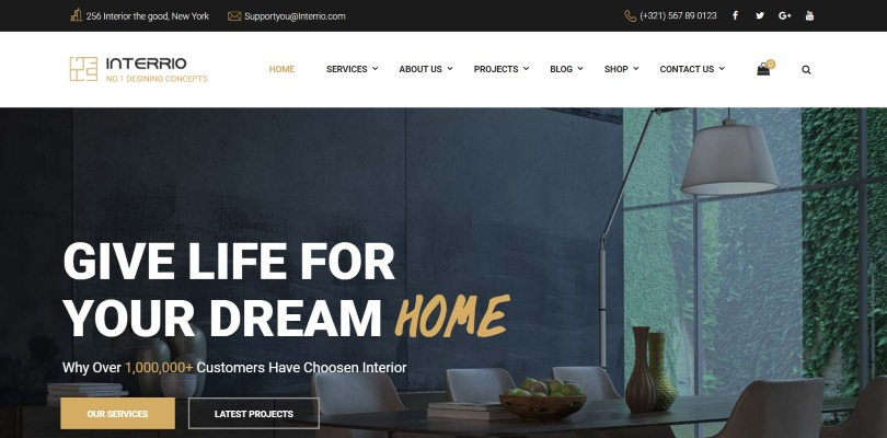 Interrio Is Simple But Packed With Features WordPress Theme For Any Website  On Topics Related To Architecture Or Interior Design. The Theme Also  Includes ...