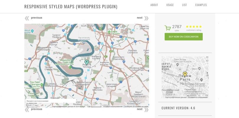 Responsive Styled Google Maps — WordPress Plugin