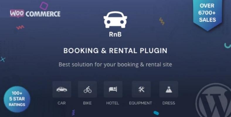 RnB WooCommerce Booking Rental Plugin