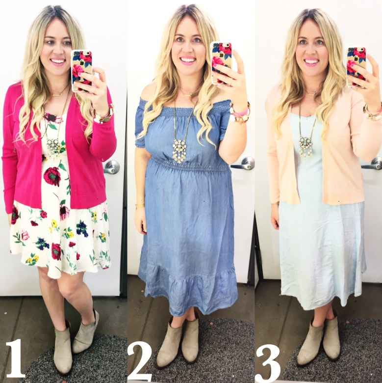Dressing Room Dilemma xx Old Navy Spring 2017, old navy, old navy dresses, spring dress, denim dresses, floral dresses, ootd, spring ootd, spring fashion, spring style, curvy fit, curvy fashion