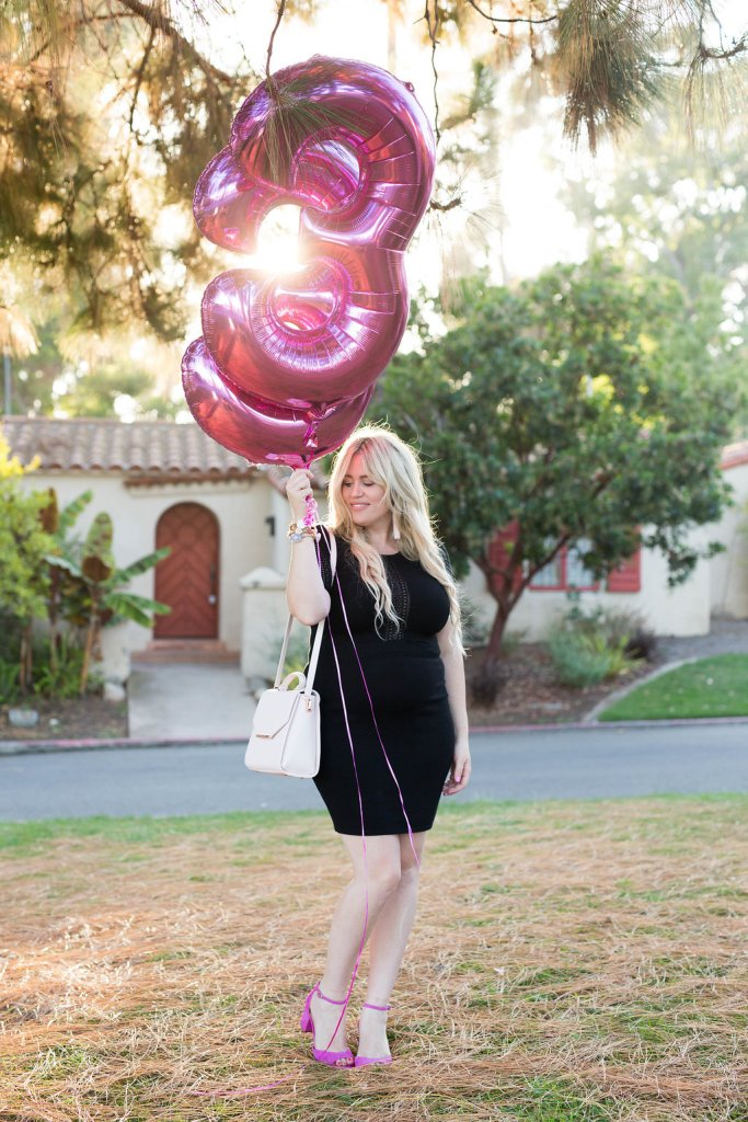 LBD and Pink Heels xx Birthday, lbd, ootd, fashion blogger, preggo blogger, maternity blogger, pink heels, ted baker, sam edelman, ali and jay, san diego blogger