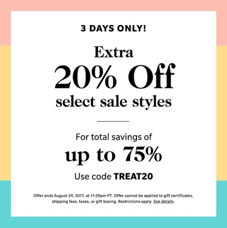 ShopBop Extra Sale on Sale, extra sale, shopbop sale, online sale, 3 day sale, treat 20, free shipping, online boutique, shopbop ootd