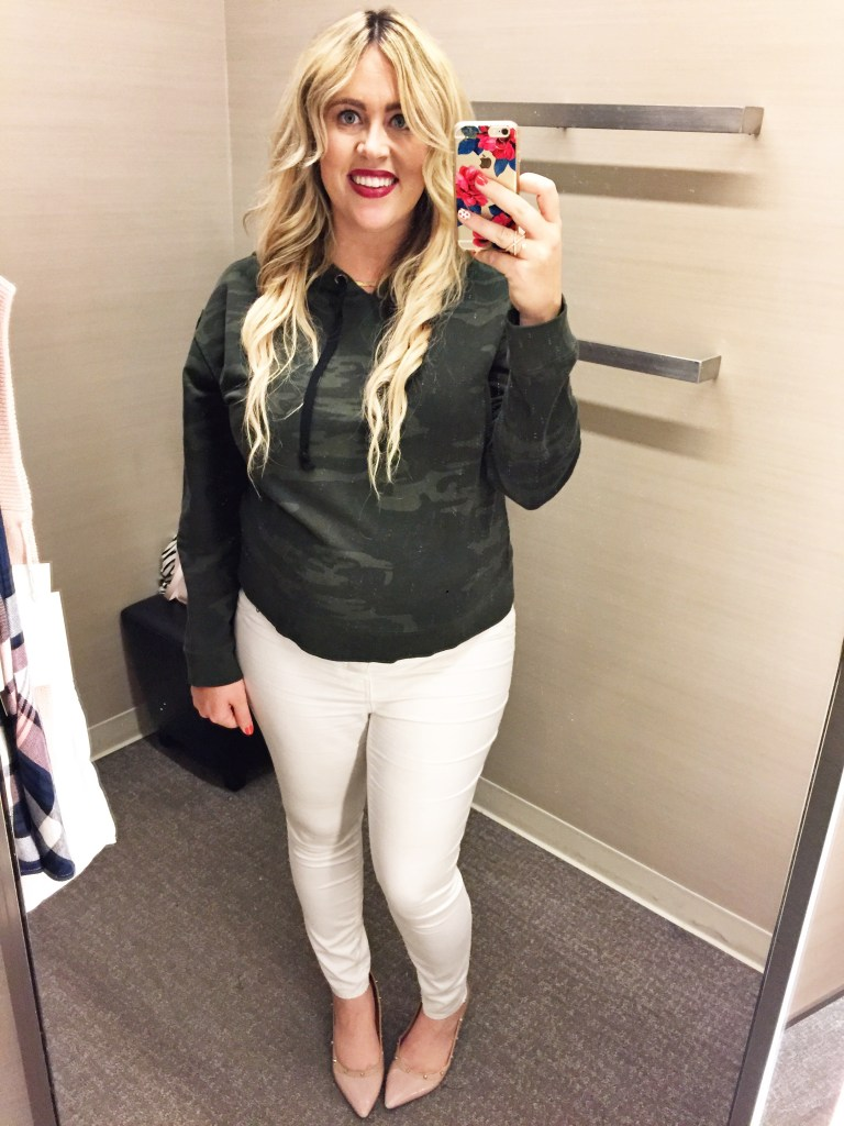 White After Labor Day Fall 2017 Dressing Room Dilemma, white after labor day, white denim, fall style, fall fashion, preggo fashion, preggo style, maternity fashion, maternity style, tops for fall, shirts for fall