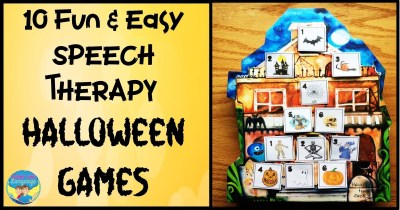 Have fun with 10 different Halloween activities for varied speech/language therapy goals using just 3 items!