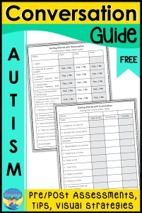 autism, conversation, assessment, printables, activities, speech therapy, special education
