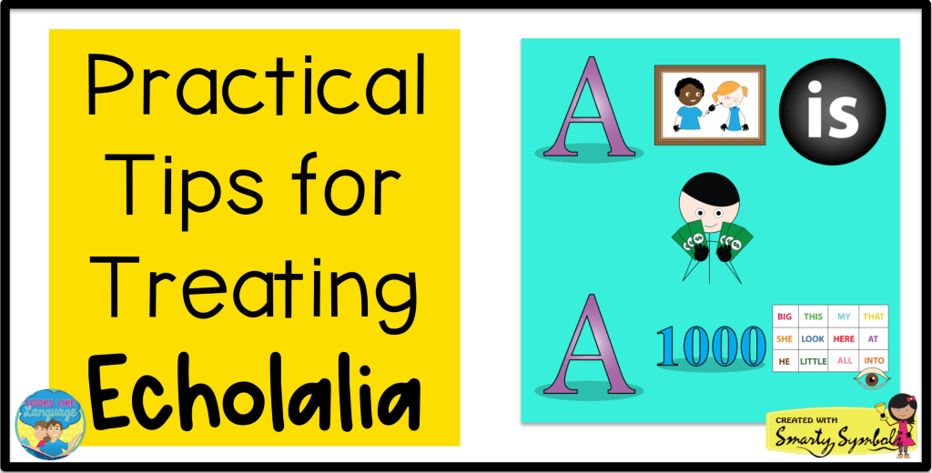 echolalia, pictures, autism, speech therapy