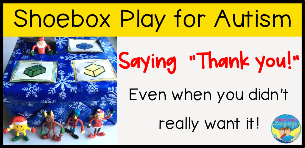 politeness, shoebox play for speech therapy, autism