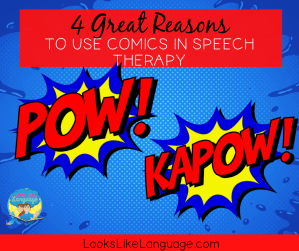 speech language therapy, comics, fun