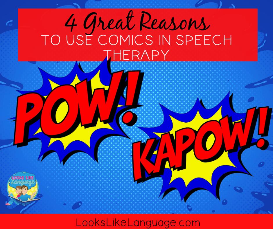 speech language therapy, comics, fun