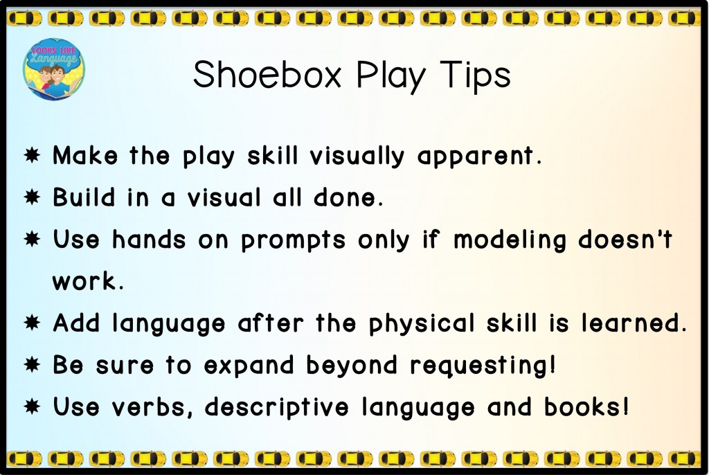 Tips for Shoebox Play Skills