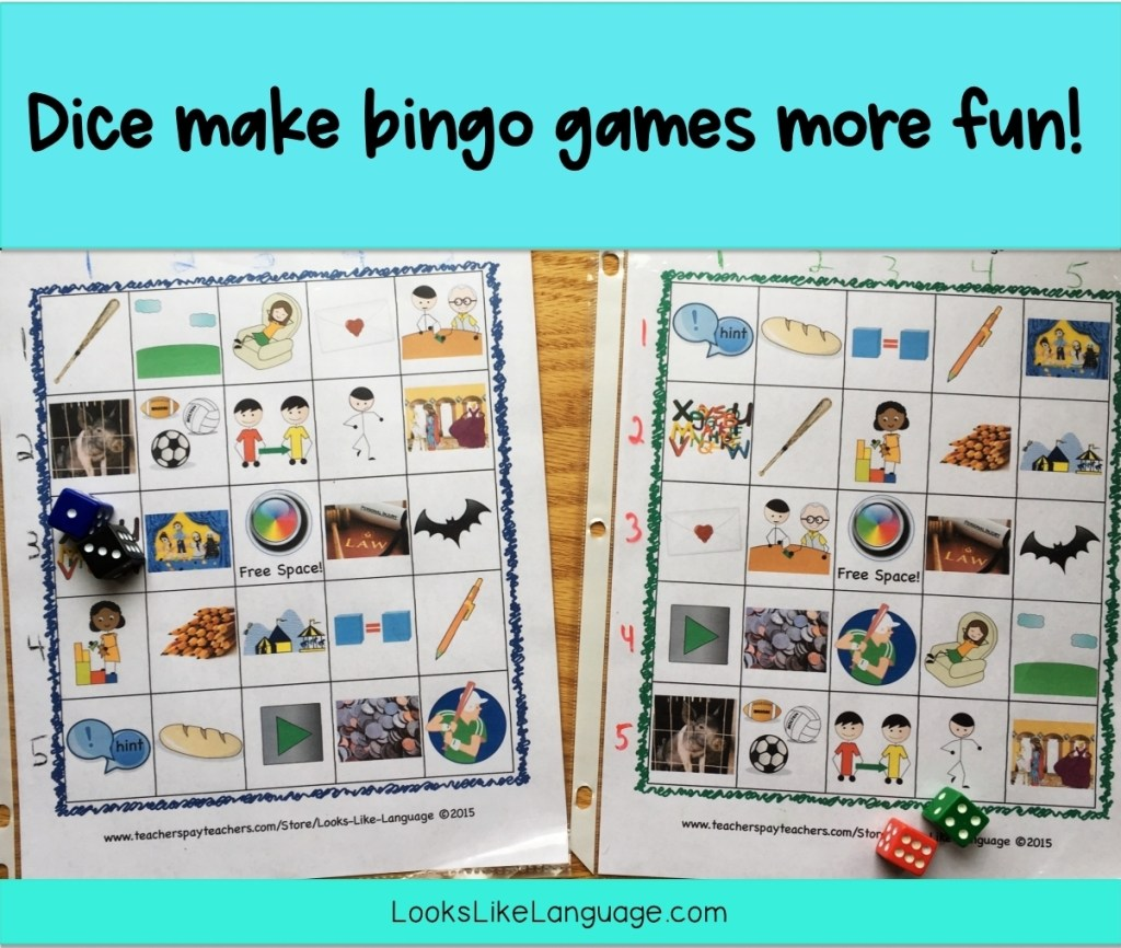 using dice in speech-language therapy