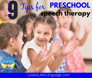 preschool speech therapy planning tips