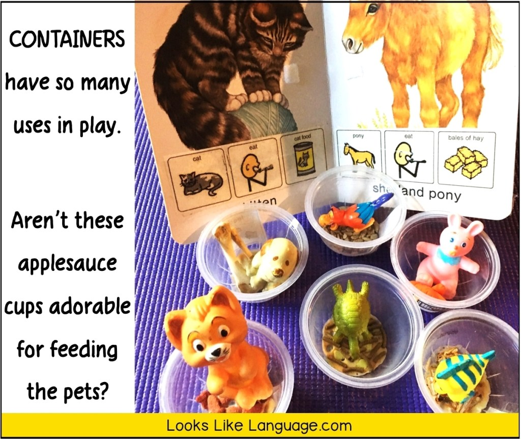 speech therapy play. pet themes