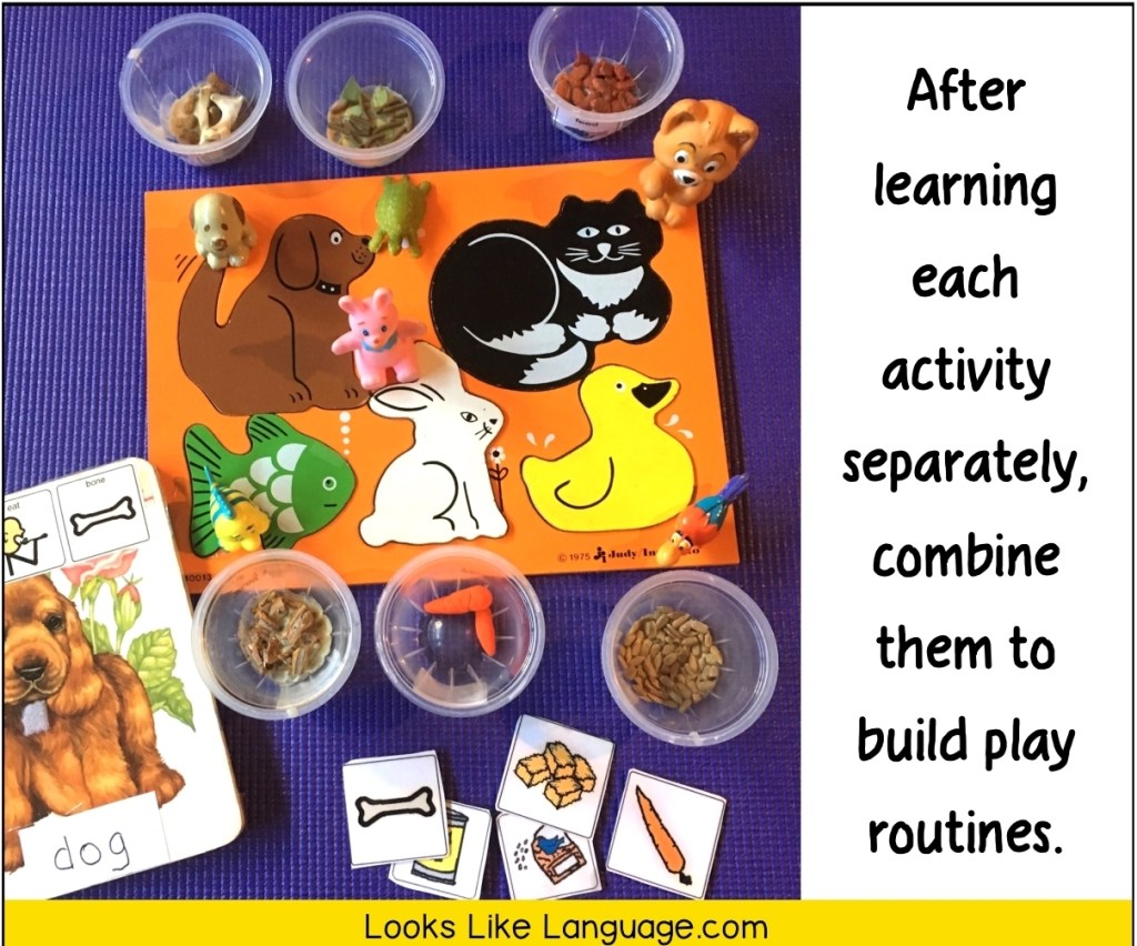 build play routines, speech language therapy